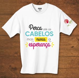 Camiseta Baby Look Perca Até Os Cabelos Mas Nunca A Esperança