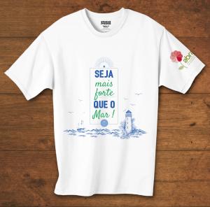 Camiseta Baby Look Seja Mais Forte Que O Mar