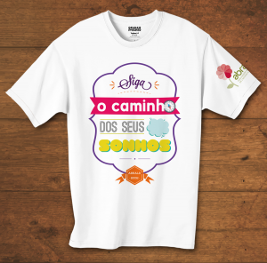 Camiseta Baby Look Siga O Caminho Dos Seus Sonhos